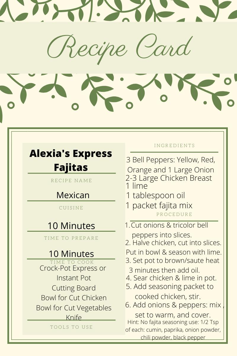 Alexia's Express Fajitas