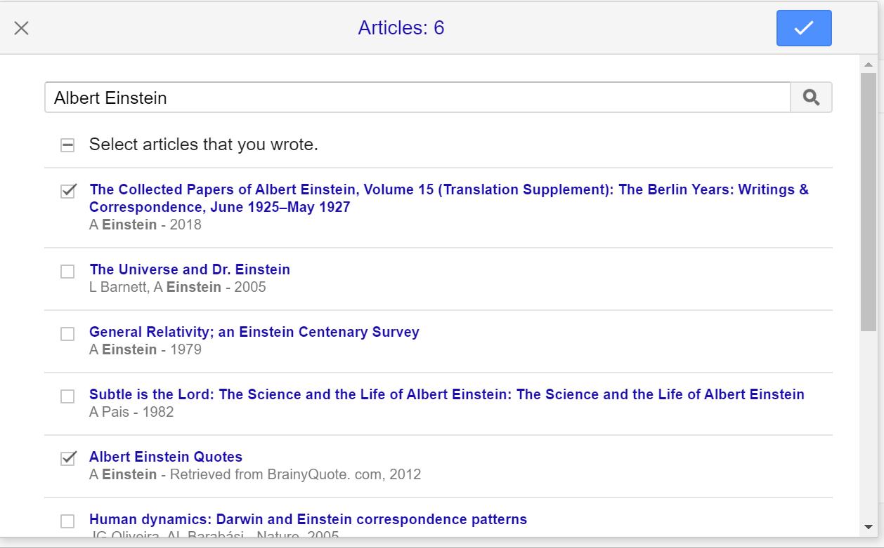 Google Scholar Article Selection Screenshot