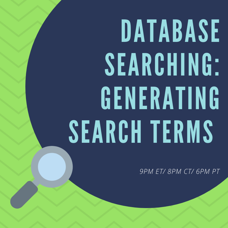 Database Searching: Generating Search Terms