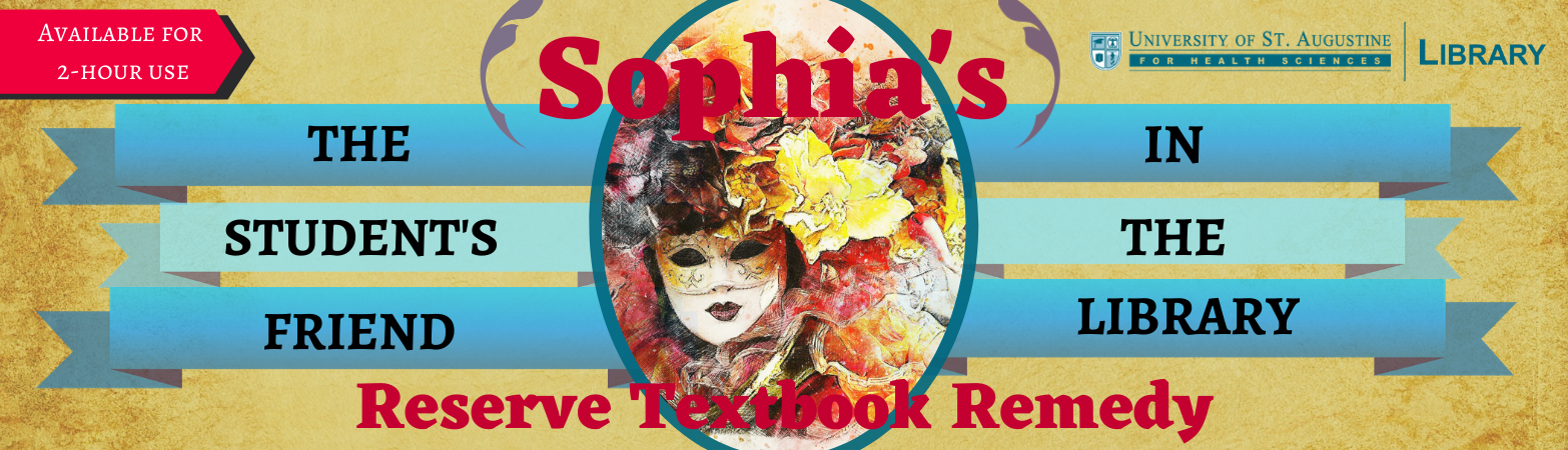 Sophia's Reserve Textbook Remedy - Available for 2-hour use