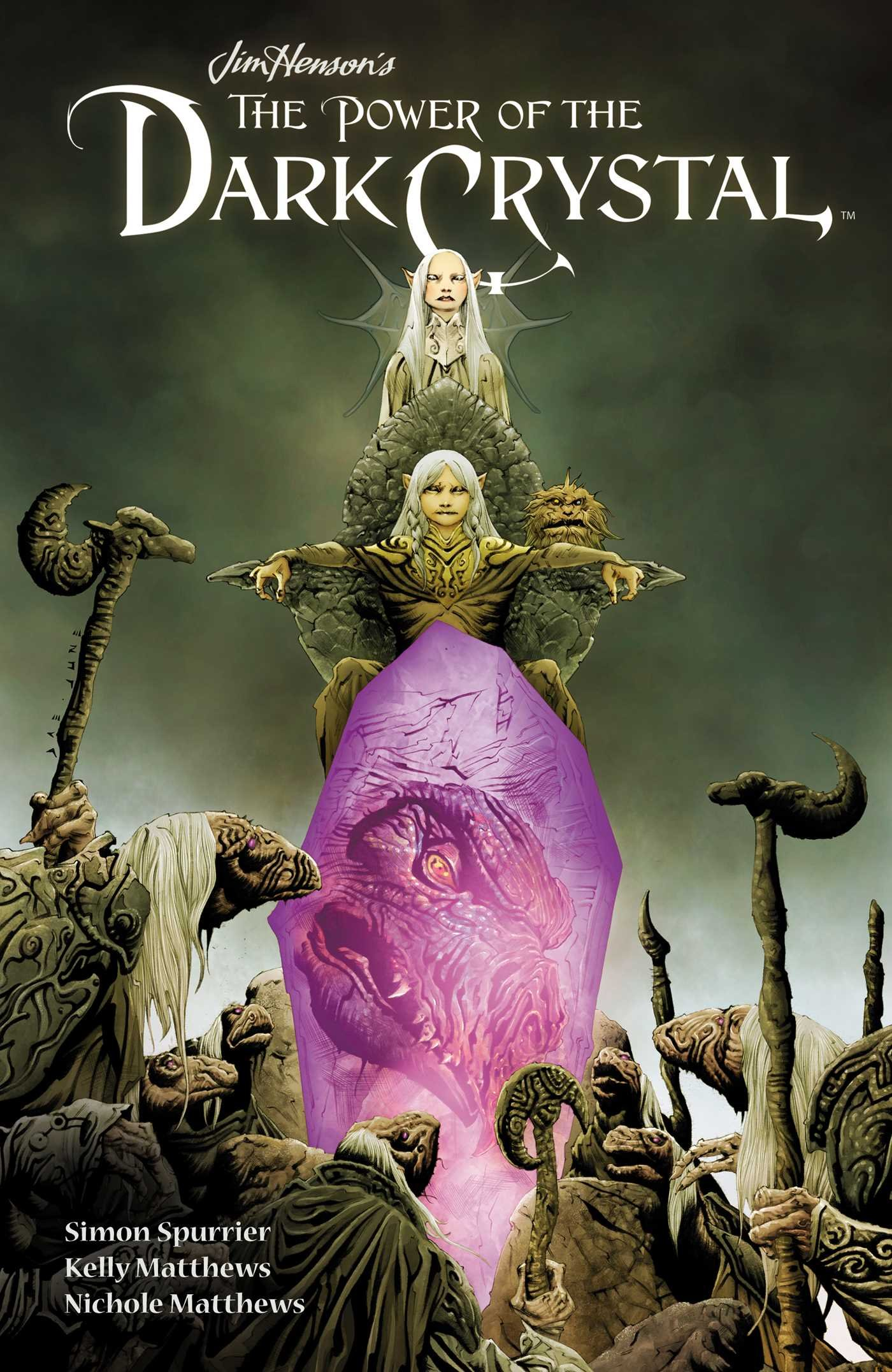 "Book cover of ""Jim Henson's The Power of the Dark Crystal Vol. 1"""