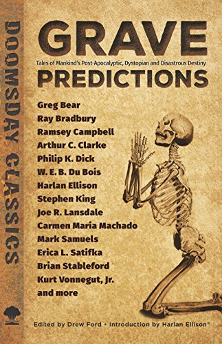 "Book cover of ""Grave Predictions : Tales of Mankind's Post-Apocalyptic, Dystopian and Disastrous Destiny"""