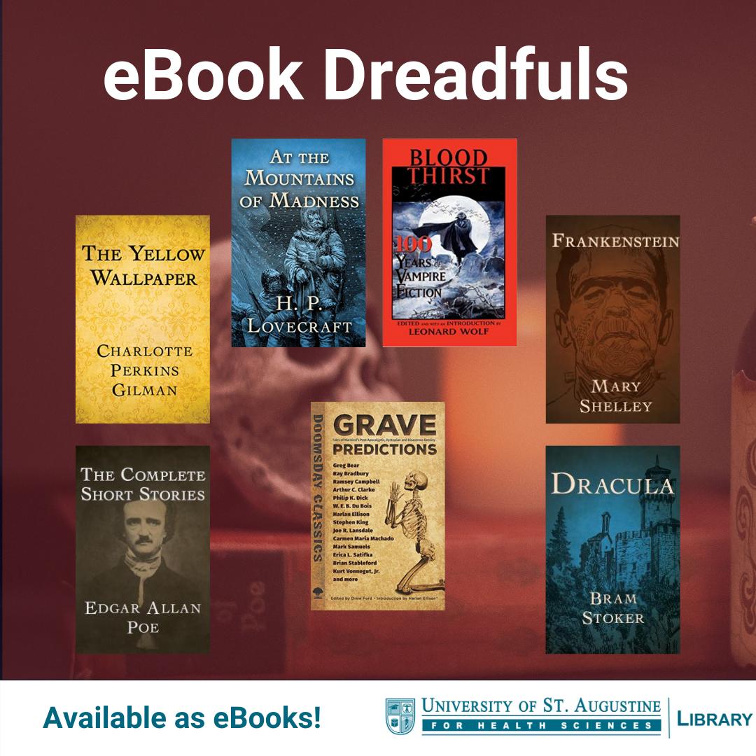 eBook Dreadfuls. Available as eBooks!