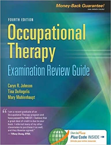 """Book cover of """"Occupational Therapy Examination Review Guide"""""""
