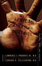 """Book cover of """"African American Bioethics : Culture, Race, and Identity"""""""