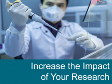 Increase the impact of your research -- image of scientist