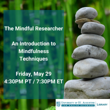 The Mindful Researcher: An Introduction to Mindfulness Techniques. 4:30pm PT / 7:30pm ET