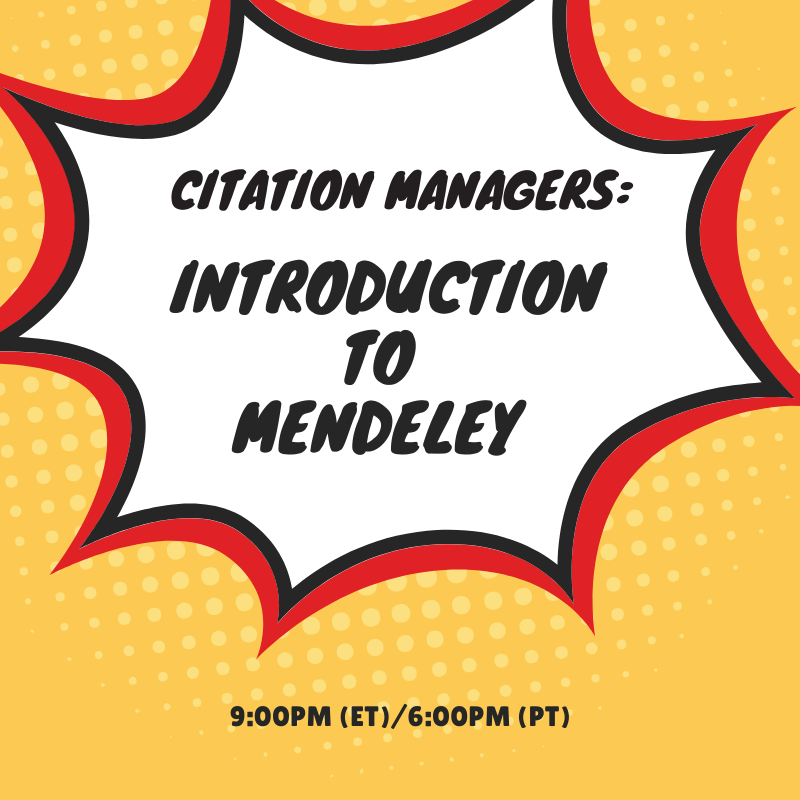 Citation Managers: Introduction to Mendeley