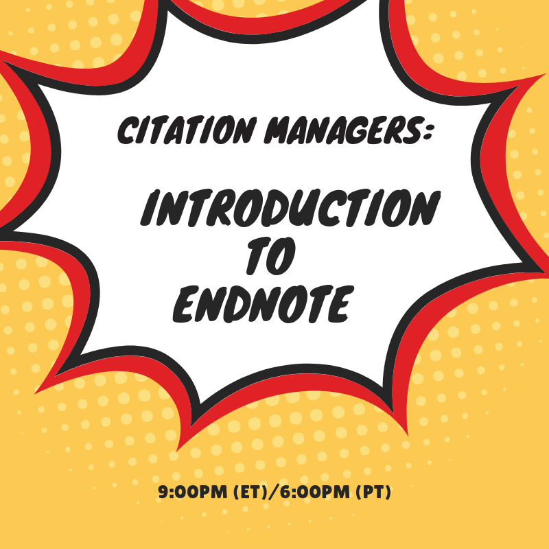 Citation Managers: Introduction to EndNote