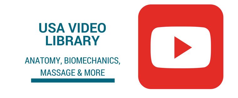 University produced videos covering anatomy, biomechanics, massage, and more.